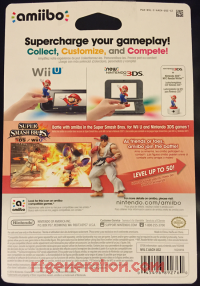 Amiibo: Super Smash Bros.: Ryu  Box Back 200px