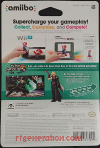 Amiibo: Super Smash Bros.: Cloud Player 2 Box Back 200px