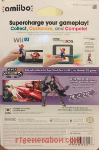 Amiibo: Super Smash Bros.: Bayonetta Player 2 Box Back 200px