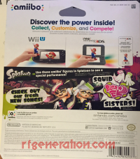 Amiibo: Splatoon Squid Sisters Pack  Box Back 200px