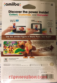 Amiibo: Super Mario Bros.: Donkey Kong  Box Back 200px