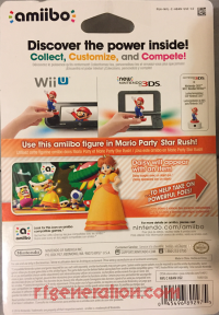 Amiibo: Super Mario Bros.: Daisy  Box Back 200px