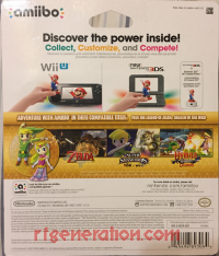 Amiibo: The Legend of Zelda: The Wind Waker 2-Pack  Box Back 200px