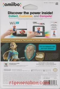 Amiibo: The Legend of Zelda: Breath of the Wild: Zelda  Box Back 200px