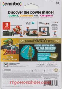 Amiibo: The Legend of Zelda: Skyward Sword Link  Box Back 200px