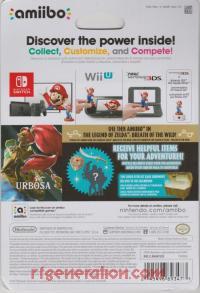 Amiibo: The Legend of Zelda: Breath of the Wild: Urbosa  Box Back 200px
