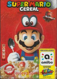 Amiibo: Super Mario Cereal  Box Front 200px