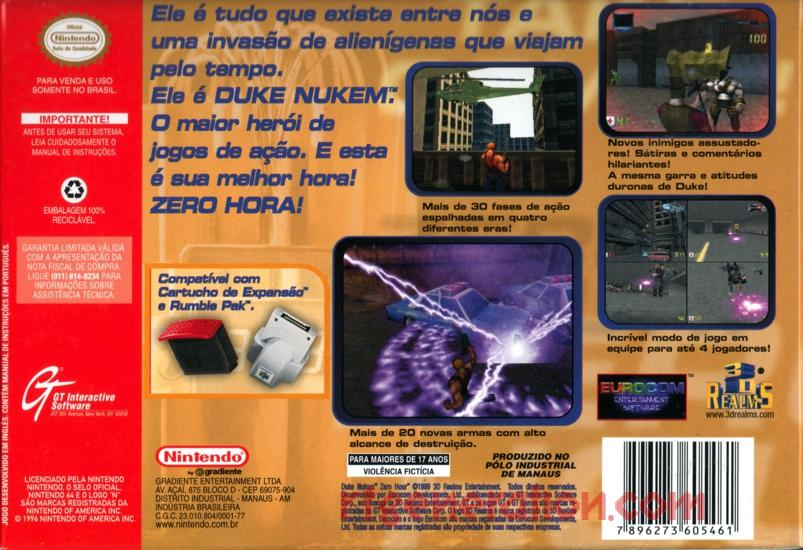 Duke Nukem: Zero Hour Box Back