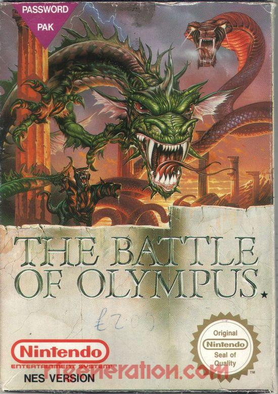 Battle of Olympus, The Box Front