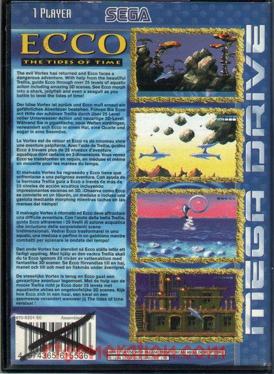 Ecco: The Tides of Time Box Back