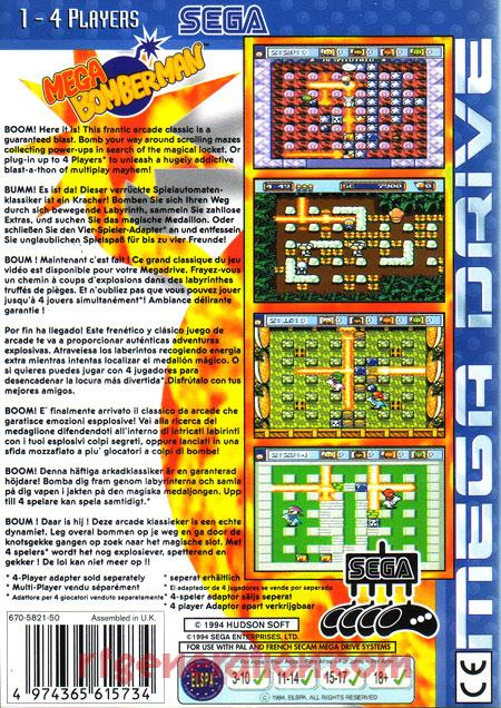Mega Bomberman <sup>[White CE]</sup> Box Back