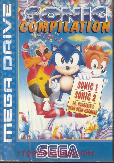 Sonic Compilation <sup>[Cartridge: Assembled in U.K.]</sup> Box Front