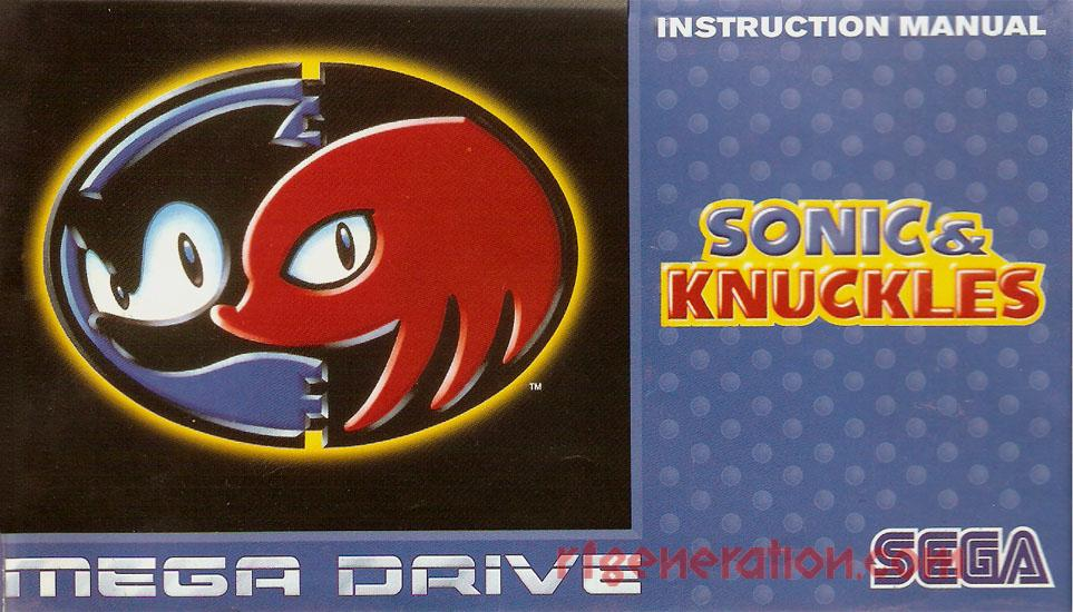 Sonic & Knuckles <sup>[4 Languages]</sup> Manual Scan