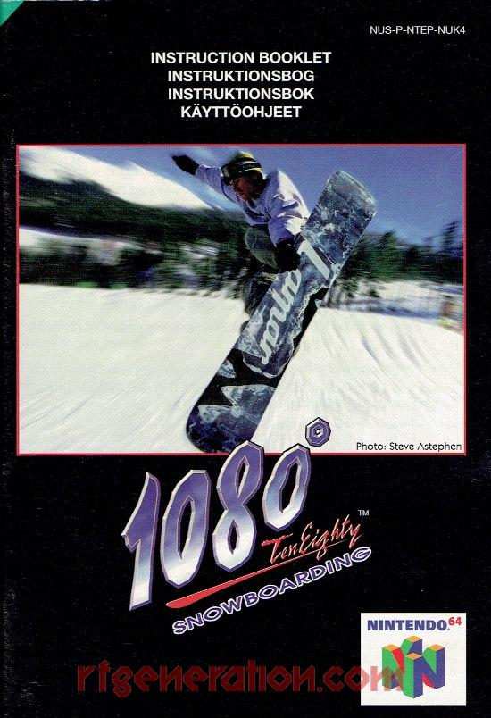 1080° Snowboarding Manual Scan