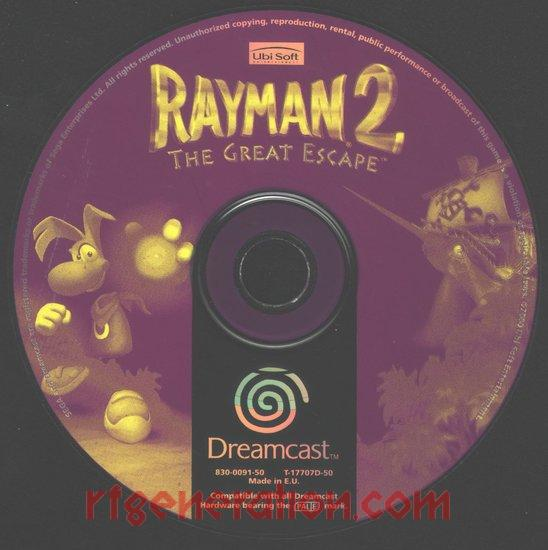 Rayman 2: The Great Escape Game Scan