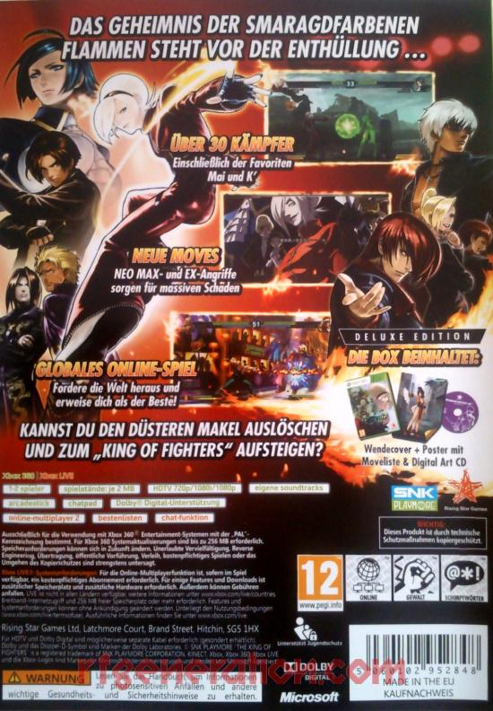 King Of Fighters XIII, The <sup>[Deluxe Edition]</sup> Box Back