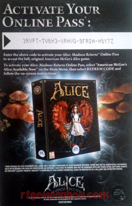 Alice: Madness Returns In-Game Screen