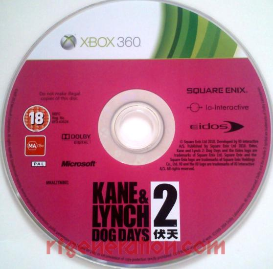 Kane & Lynch 2: Dog Days <sup>[Limited Edition]</sup> Game Scan