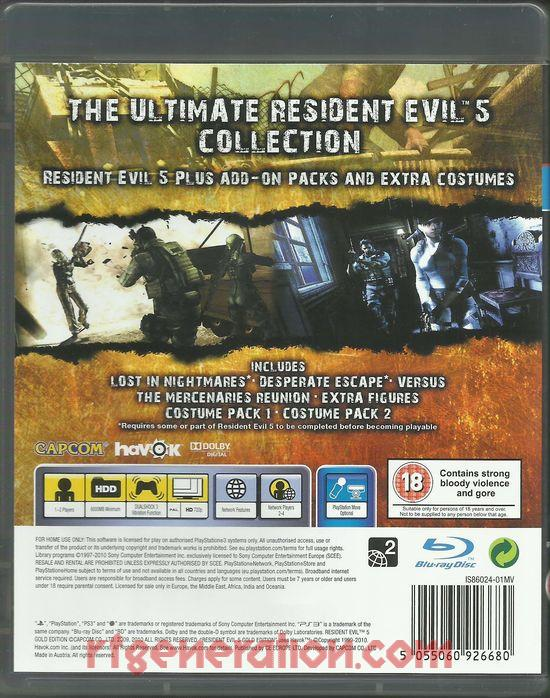 Resident Evil 5 <sup>[Gold Edition]</sup> Box Back