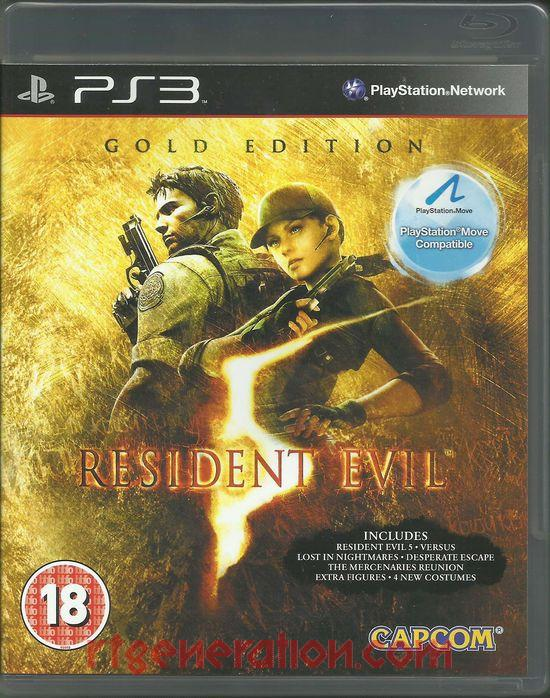 Resident Evil 5 <sup>[Gold Edition]</sup> Box Front