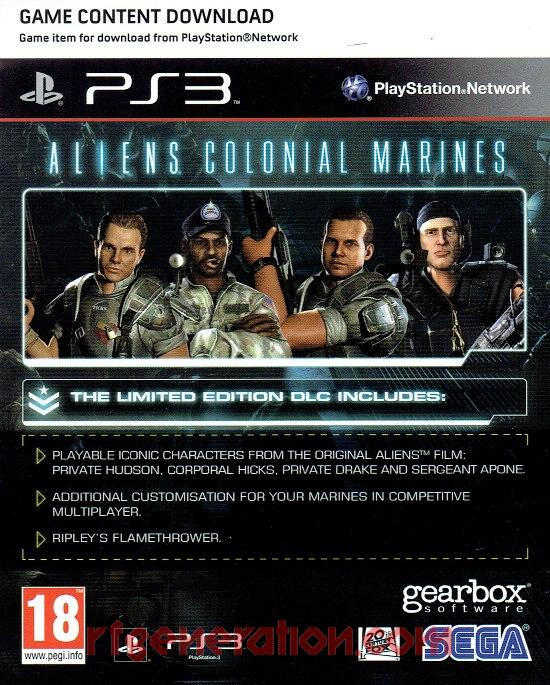 Aliens: Colonial Marines <sup>[Limited Edition]</sup> In-Game Screen