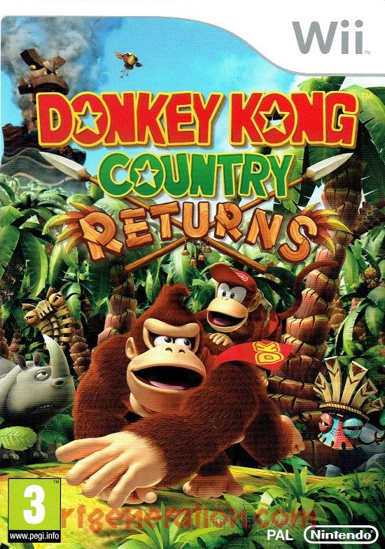 Donkey Kong Country Returns Box Front