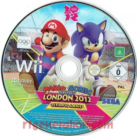 Mario & Sonic at the London 2012 Olympic Games Game Scan