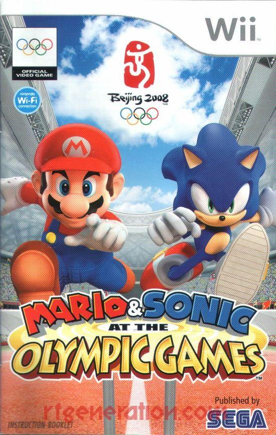 Mario & Sonic at the Olympic Games Manual Scan
