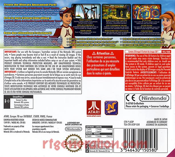 RollerCoaster Tycoon 3D Box Back