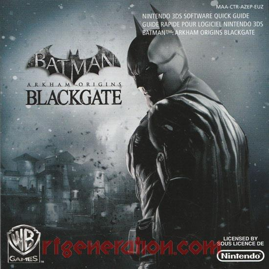 Batman: Arkham Origins - Blackgate Manual Scan