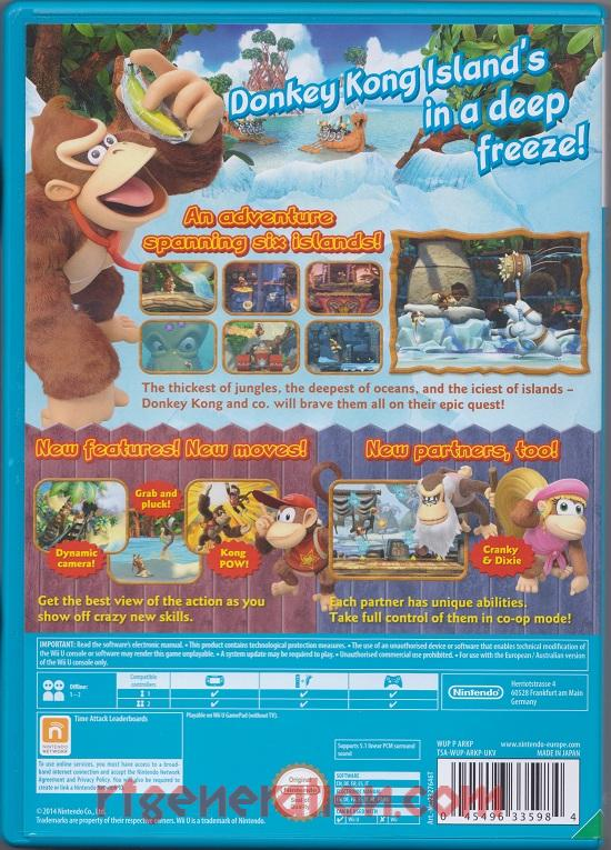 Donkey Kong Country: Tropical Freeze <sup>[Nintendo Selects]</sup> Box Back
