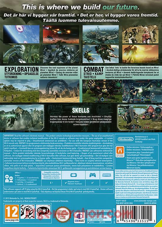 Xenoblade Chronicles X <sup>[UK4 Version]</sup> Box Back
