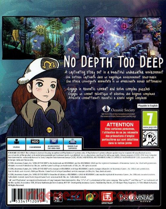 Song of the Deep Box Back