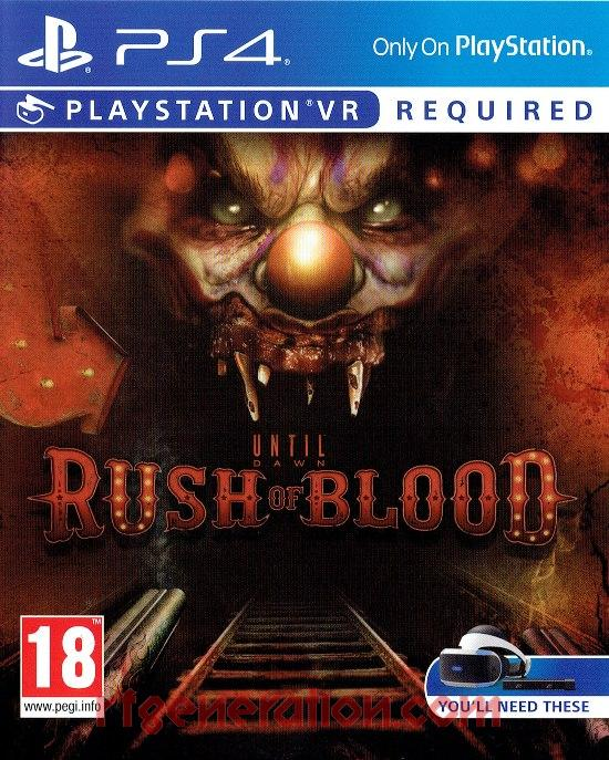Until Dawn: Rush of Blood Box Front