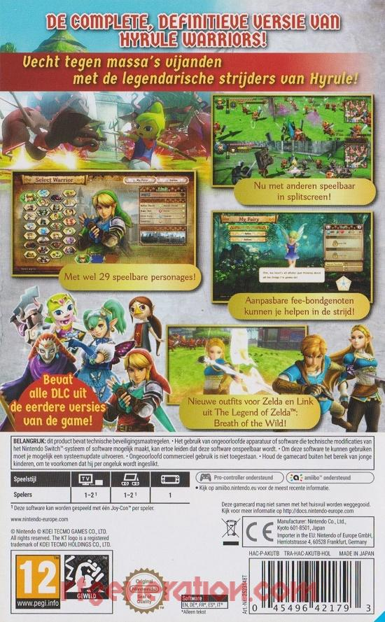 Hyrule Warriors: Definitive Edition Box Back