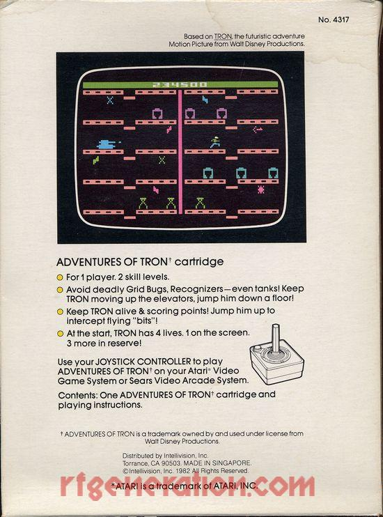 Adventures of Tron Box Back