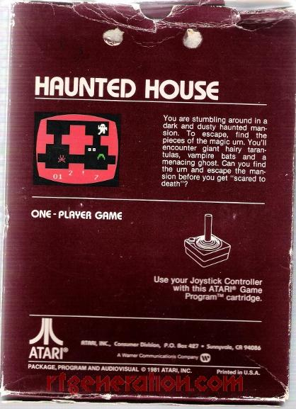 Haunted House Box Back