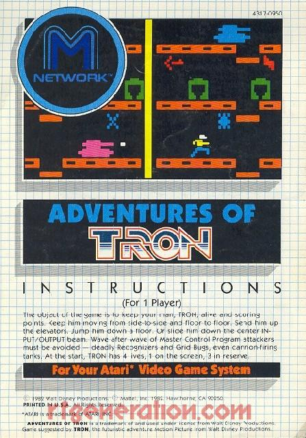 Adventures of Tron Manual Scan