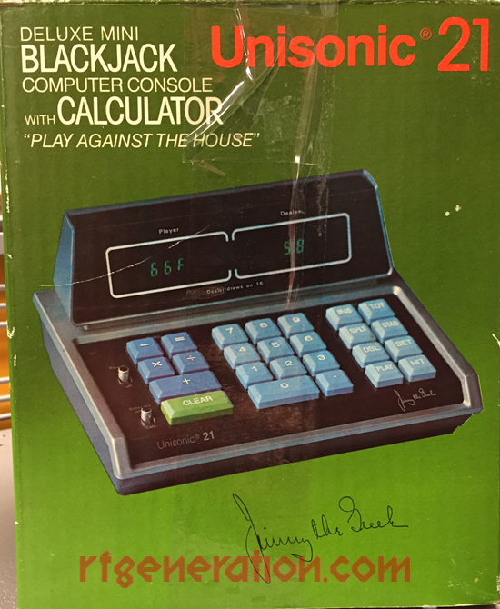 Unisonic 21 Blackjack Calculator Box Back