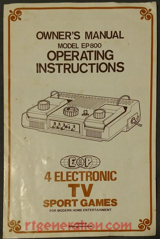4 Electronic TV Sport Games Manual Scan