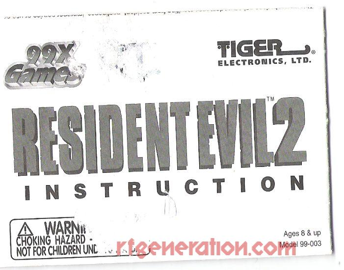 99x Games: Resident Evil 2 Manual Scan