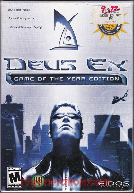 Deus Ex <sup>[Game of the Year Edition]</sup> Box Front