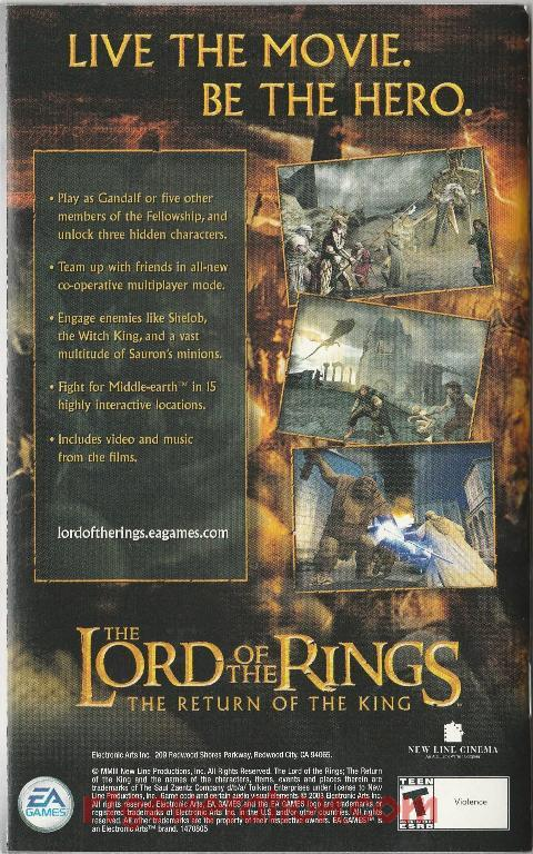 Lord of the Rings, The: The Return of the King In-Game Screen