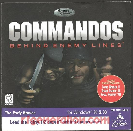 Commandos:  Behind Enemy Lines <sup>[Jewel Case]</sup> Manual Scan