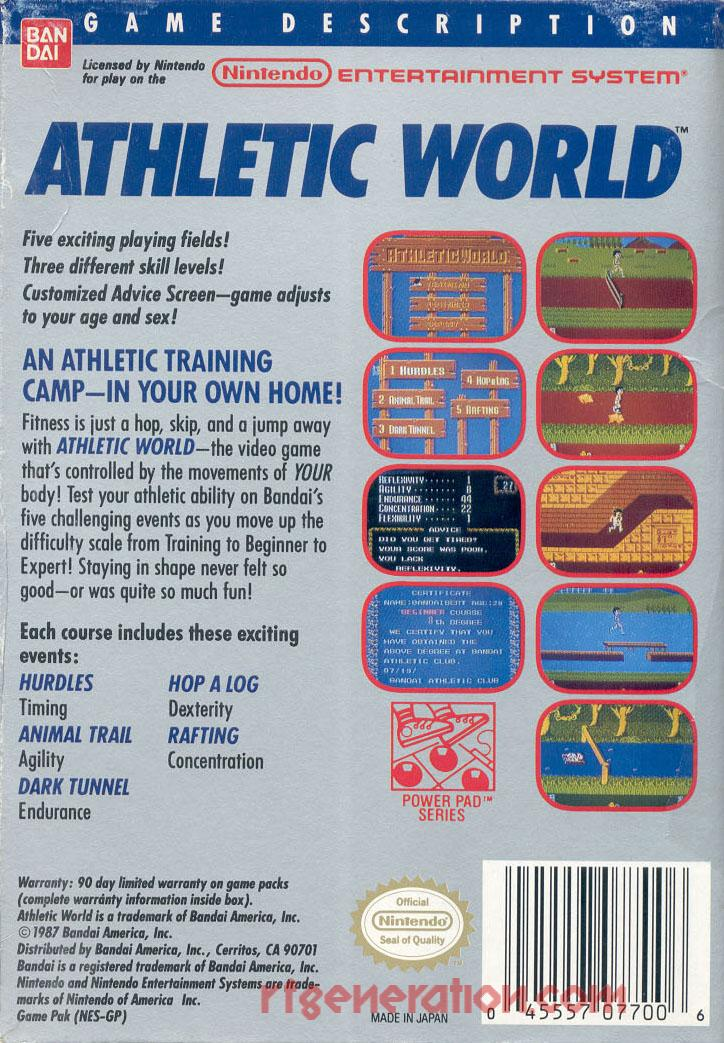 Athletic World <sup>[3 Screw - Oval Seal]</sup> Box Back