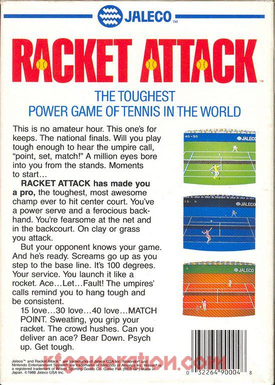 Racket Attack Box Back