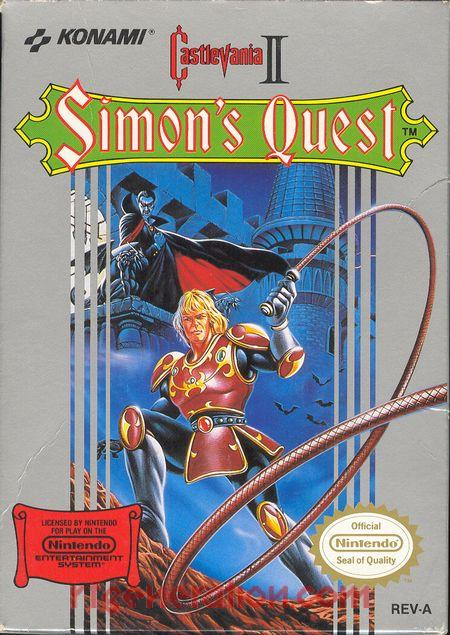 Castlevania II: Simon's Quest <sup>[Oval Seal]</sup> Box Front
