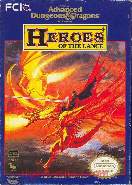 Advanced Dungeons & Dragons: Heroes of the Lance Box Front