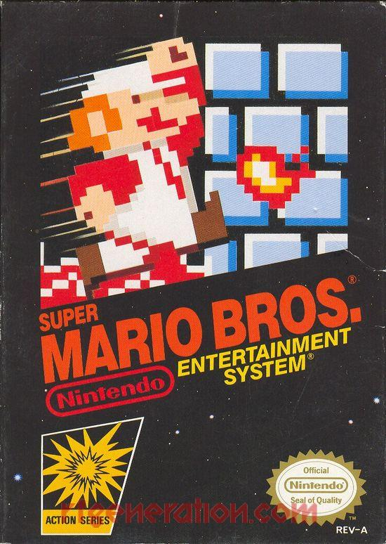 Super Mario Bros. <sup>[3 Screw - Oval Seal]</sup> Box Front