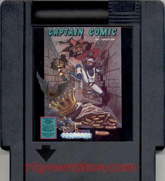 Captain Comic:  The Adventure <sup>[Blue Cartridge]</sup> In-Game Screen